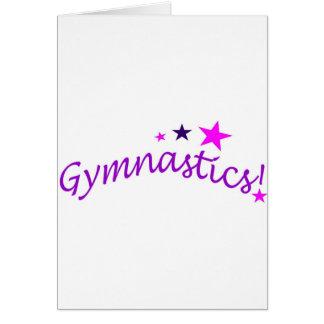 Gymnastik gewölbt mit Sternen Karte