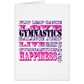 Gymnastik Live, Liebe, Glück-Kleid für Mädchen Karte