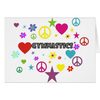 Gymnastik mit Mischgraphiken Karte