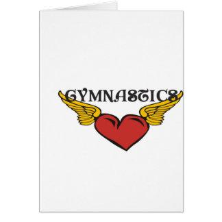 Gymnastik mit Winged Herzen Karte