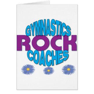 Gymnastik-Trainer-Geschenk Karte