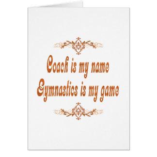 Gymnastik-Trainer Karte