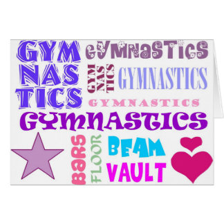 Gymnastik-Wiederholen Karte