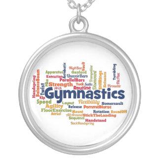 Gymnastik-Wort-Wolke Versilberte Kette