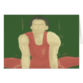 Gymnastische Stärke, Gruß-Karte Karte