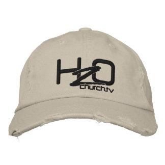 H2OChurch.tv - Beunruhigter Denim gestickter Hut Baseballmütze