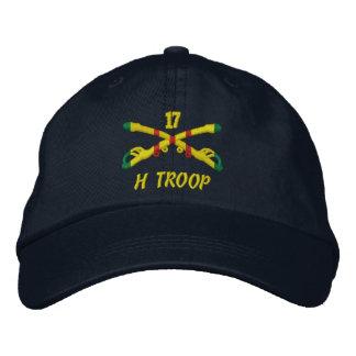 H-Truppe, 17. Kavallerie gestickter Hut