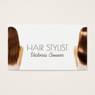 Haar-Stylist-Frisur-Haar-Modell-Weiß-Karte Visitenkarte