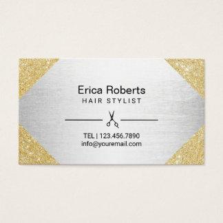 Haar-Stylist-moderner Gold-u. Visitenkarten
