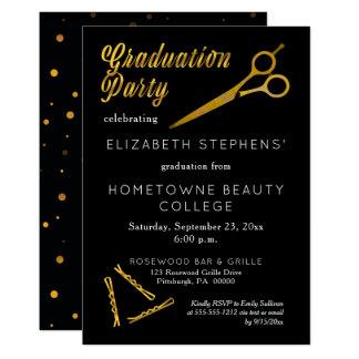 Haarnadel-Schönheits-SchulAbschluss-Party der 12,7 X 17,8 Cm Einladungskarte