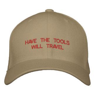 HABEN Sie DIE WERKZEUGE REIST gestickt auf Kappe Bestickte Baseballcaps