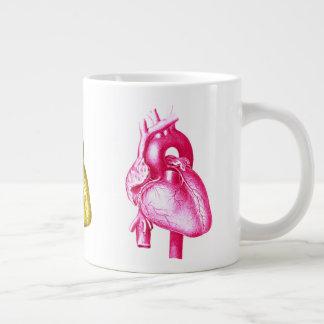 Haben Sie ein Herz: Bunte Extragroße Tasse