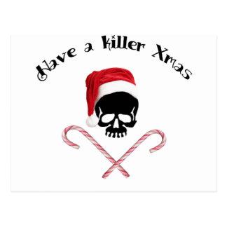 Haben Sie ein Mörder Weihnachten! Postkarte