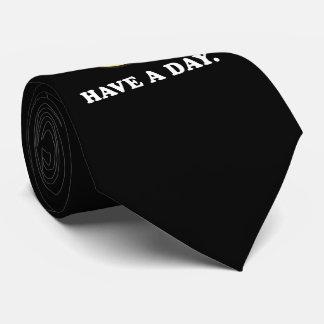 Haben Sie ein Tageslustiges flaches Gesicht Bedruckte Krawatten