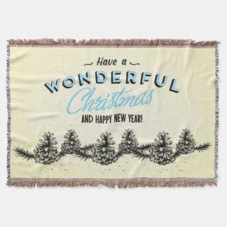 Haben Sie ein wunderbares Weihnachten Decke