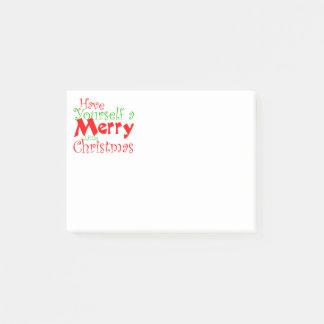 Haben Sie frohe Weihnacht-Feiertag Post-it Klebezettel