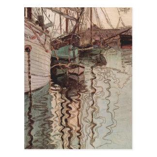 Hafen Egon Schiele- von Triest Postkarte