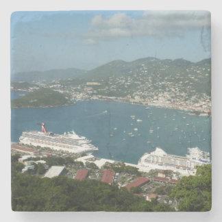 Hafen in den Jungferninseln St Thomas US Steinuntersetzer