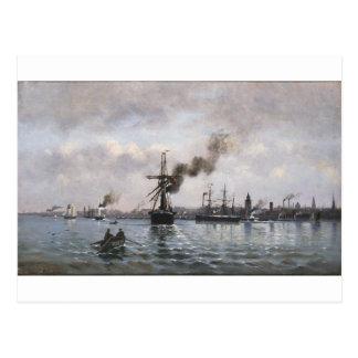 Hafen von Kopenhagen durch Ioannis Altamouras Postkarte