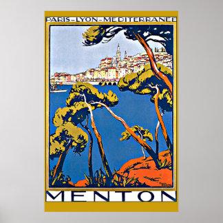 Hafen von Menton Frankreich Poster
