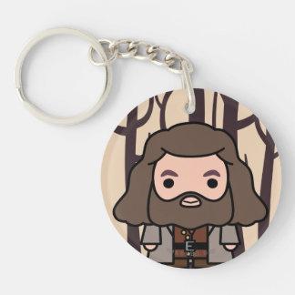 Hagrid Cartoon-Charakter-Kunst Schlüsselanhänger
