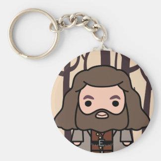 Hagrid Cartoon-Charakter-Kunst Standard Runder Schlüsselanhänger