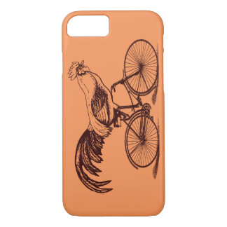 Hahn, der Fahrrad fährt iPhone 8/7 Hülle