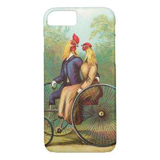 Hahn-romantisches Fahrrad-Datum iPhone 8/7 Hülle