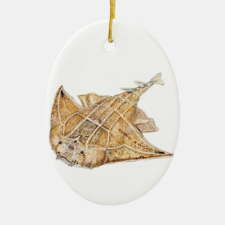 Hai Engel, angelote, Ovales Keramik Ornament