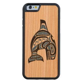 Haida-indischer Killerwal-Entwurf Bumper iPhone 6 Hülle Kirsche