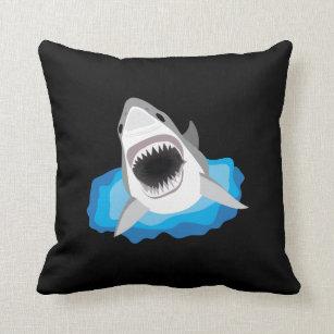 Haifisch Angriff   Weißer Hai Kissen