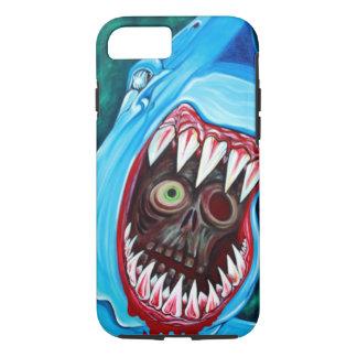 Haifisch gegen Zombie iPhone 8/7 Hülle