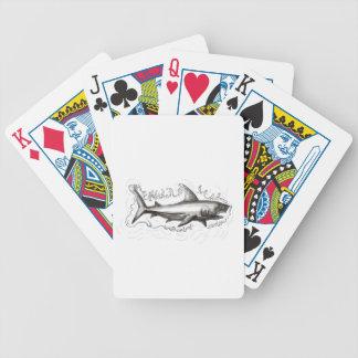 Haifisch-Schwimmen-Wasser-Tätowierung Bicycle Spielkarten