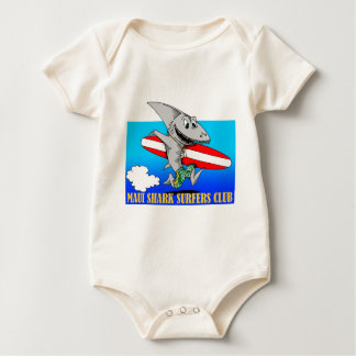 Haifisch-Surfer Baby Strampler