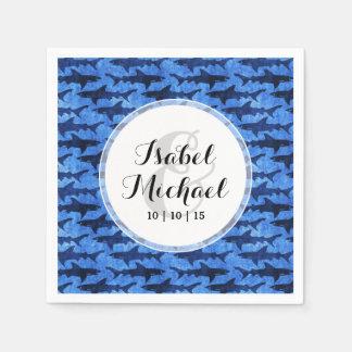 Haifische im tiefen blauen Meer Papierserviette