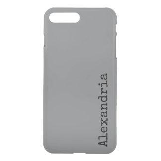 Haifischhaut-graue moderne neutrale iPhone 8 plus/7 plus hülle