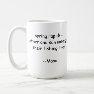 Haiku-Fischen-Tasse Tasse