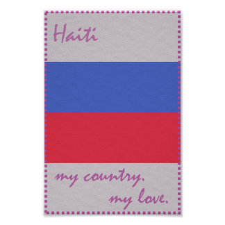Haiti mein Land meine Liebe Poster