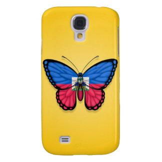 Haitianische Schmetterlings-Flagge auf Gelb Galaxy S4 Hülle