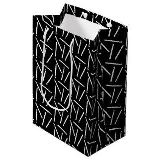 Häkelarbeit-Haken-Handwerks-Muster {dunkel} Mittlere Geschenktüte
