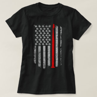 Häkelarbeit - USA - Flaggen-T - Shirt