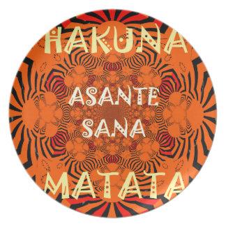Hakuna Matata einzigartig außergewöhnlich Flache Teller