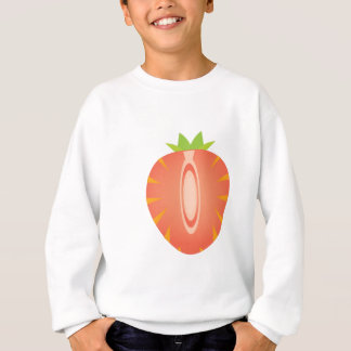 halbe Erdbeere Sweatshirt