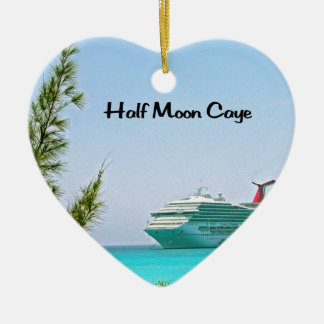 Halbmond Caye Bahamas Keramik Ornament