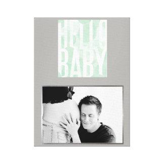 Hallo Baby-Liebe-kundenspezifische Foto-Wand-Kunst Leinwanddruck