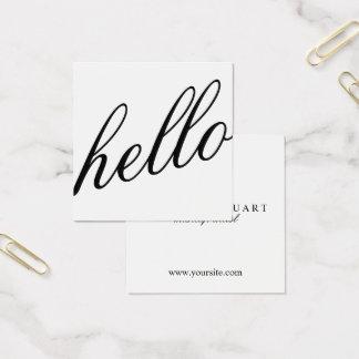 Hallo | berufliches modernes elegantes Black&White Quadratische Visitenkarte