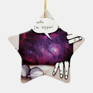 Hallo, bin ich vegan keramik ornament