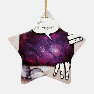 Hallo, bin ich vegan keramik Stern-Ornament
