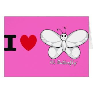 Hallo Butterfly® Gruß-Karten Karte