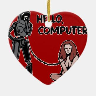 Hallo, Computer Keramik Herz-Ornament